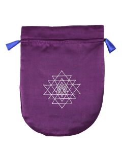 Shri Yantra (purple satin)