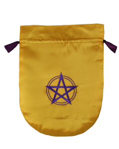 Pentagram in Circle (yellow satin)